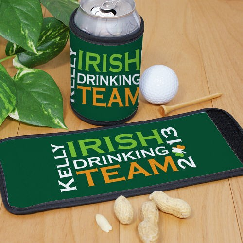 Personalized Irish Drinking Team Can Wrap Koozie 362990