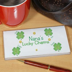 Personalized Lucky Charms Checkbook Cover