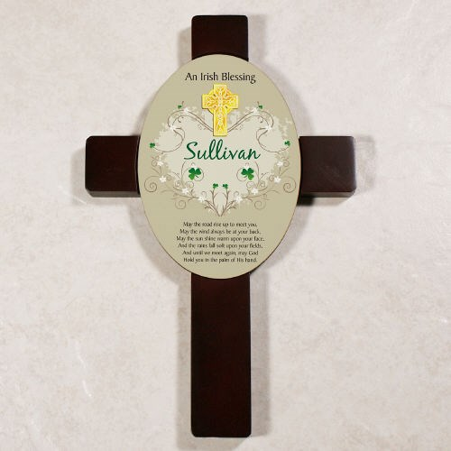 Custom Printed Irish Blessing Keepsake Wall Cross