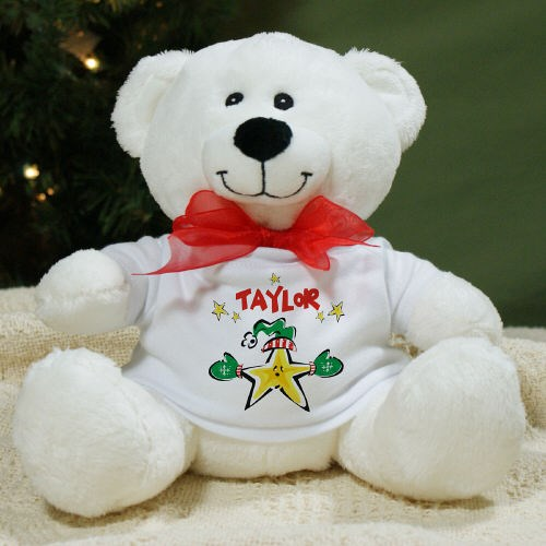 Personalized Christmas Star Teddy Bear