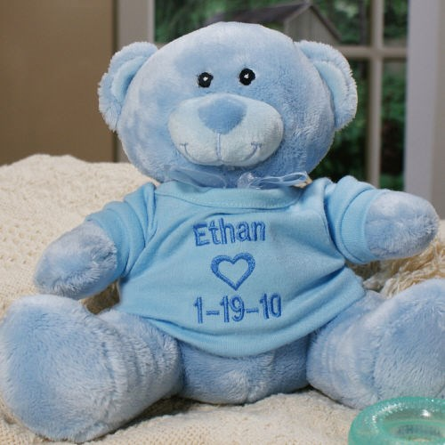 Embroidered Teddy Bear for Baby Boy