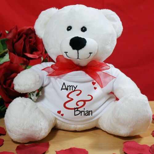 Personalized Love Teddy Bear for Valentines Day