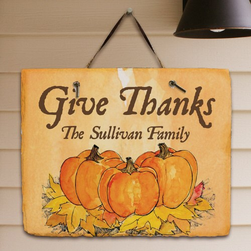 Give Thanks Personalized Slate Plaque 63130697