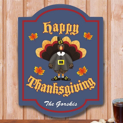 Happy Thanksgiving Personalized Wall Sign 637465