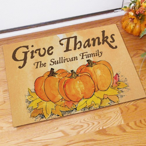 Give Thanks Personalized Doormat 83130697