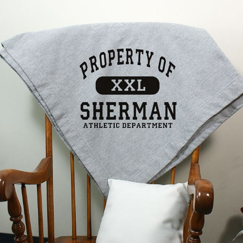 Personalized Property Of Athletic Fleece Blanket D12261