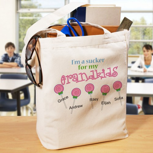 Personalized Sucker For My Kids Tote Bag 862212X