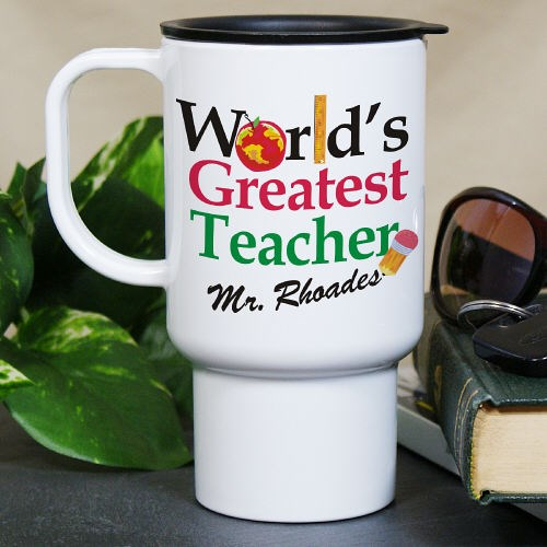 Personalized World's Greatest Teacher Travel Mug T211170
