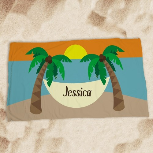 Personalized Summer Vacation Beach Towel U594933