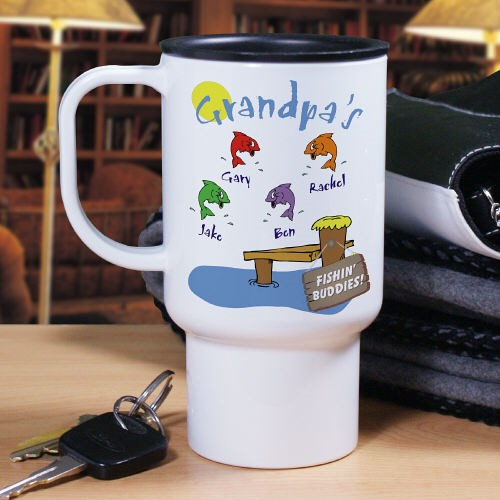 Personalized Fishing Buddies Travel Mug T20360