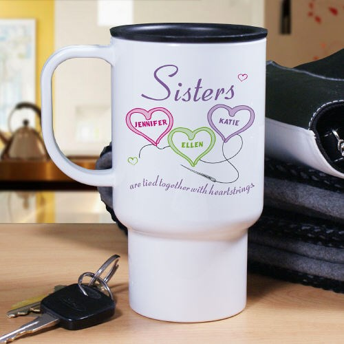 Personalized Sisters Travel Mug T21730