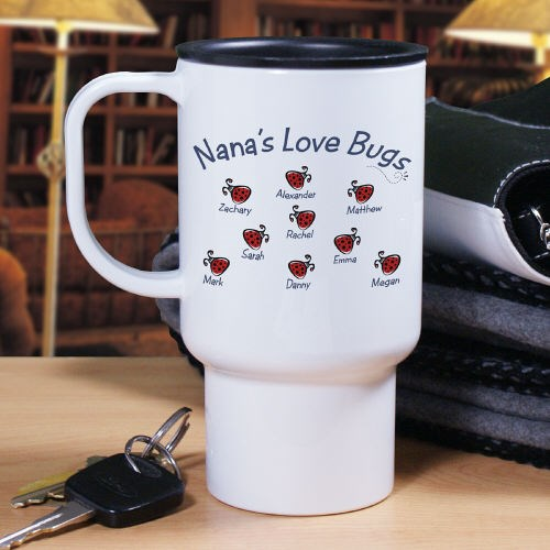 Personalized Love Bugs Travel Mug T218980