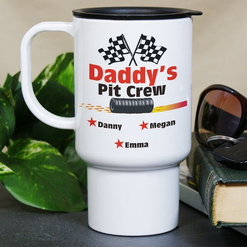 Personalized Pit Crew Travel Mug T220650