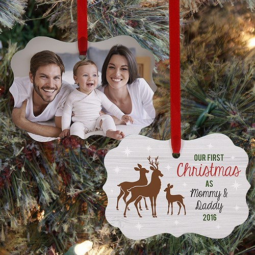 Personalized First Time Parents Christmas Ornament U1063630