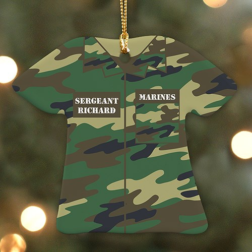 Personalized Military T-Shirt Ornament U1071363