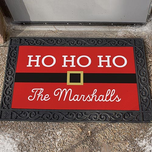 Personalized Santa Doormat U1080283X