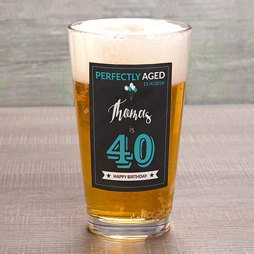 Personalized Birthday Pint Glass U1087892