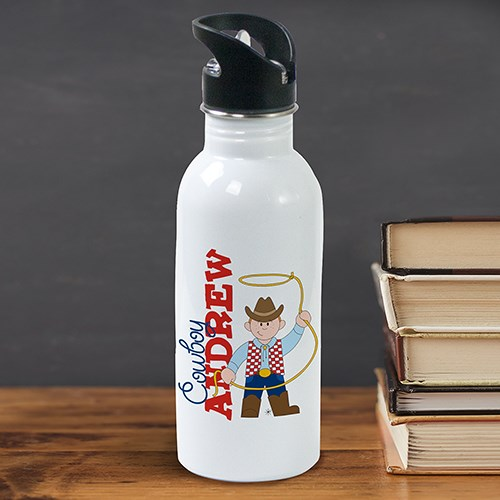 Personalized Cowboy Water Bottle U368320