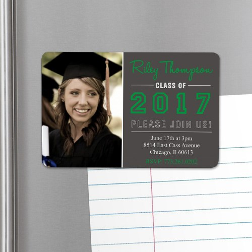 Personalized Graduation Photo Invitation Magnet U753432
