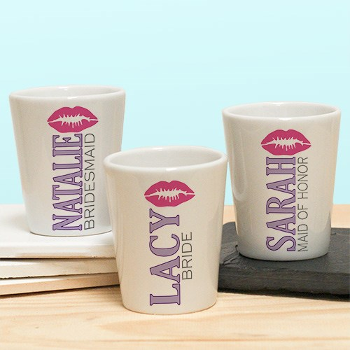 Personalized Bridal Party Shot Glass U767477
