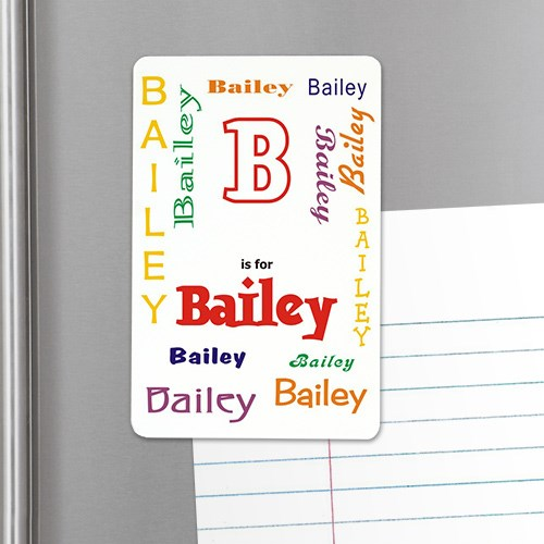 Personalized Name Locker Magnet - A is for...Design U81632