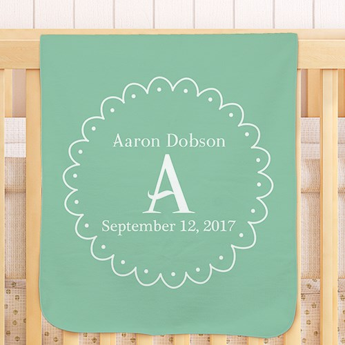 Personalized Baby Initial Blanket U958451