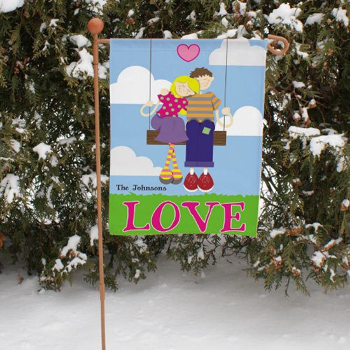 Personalized Swing Couple Garden Flag 83052432