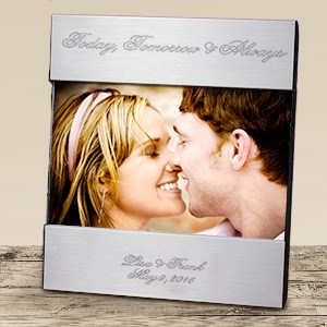Engraved Wedding Silver Picture Frame M27380