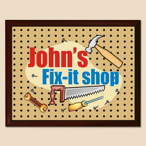 My Fix-It Shop Personalized Printed Plaque 420955