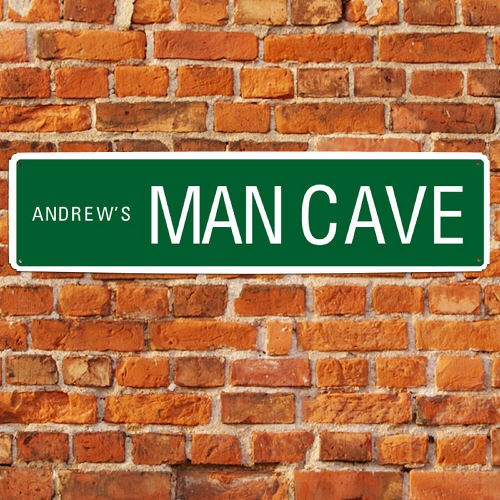 Personalized Man Cave Street Sign | Personalized Man Cave
