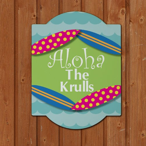 Personalized Summer Welcome Wall Sign 667125