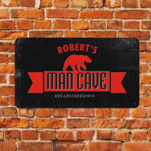 Personalized Man Cave Metal Wall Sign