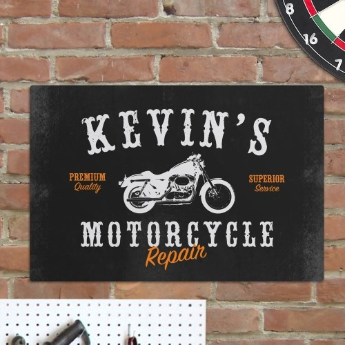 Personalized Motorcycle Repair Metal Wall Sign 681774