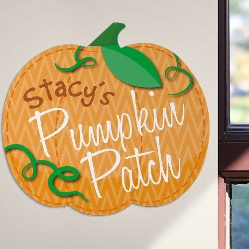 Personalized Pumpkin Patch Wall Sign U795582