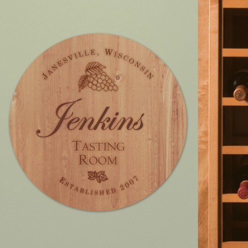 Personalized Wine Room Wall Sign U804479