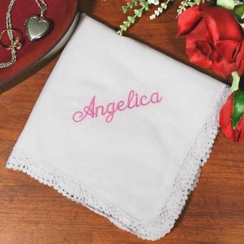 Any Name Embroidered Handkerchief 334775
