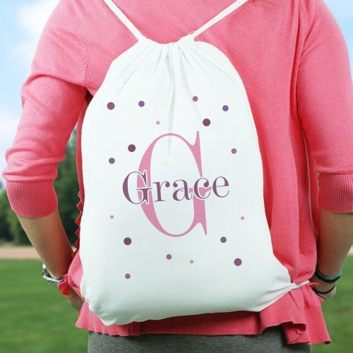 Personalized Polka Dot Travel Bags