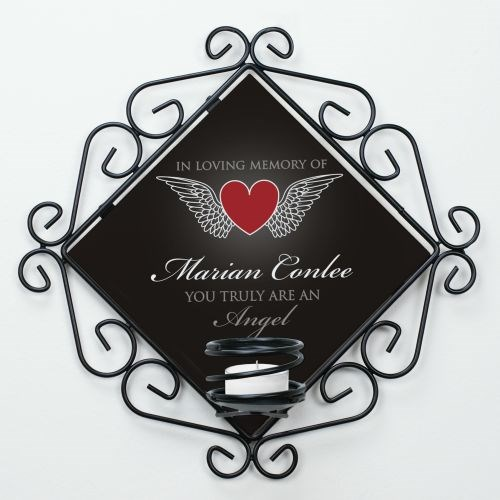 Personalized Truly an Angel Memorial Candle Holder U714365