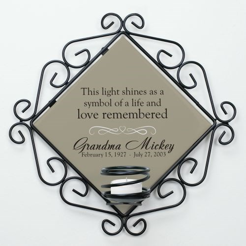 Personalized Memorial Candle Holder U714465
