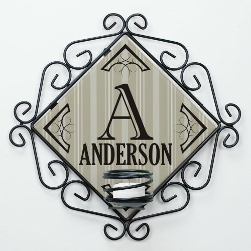 Personalized Family Candle Holder U723065