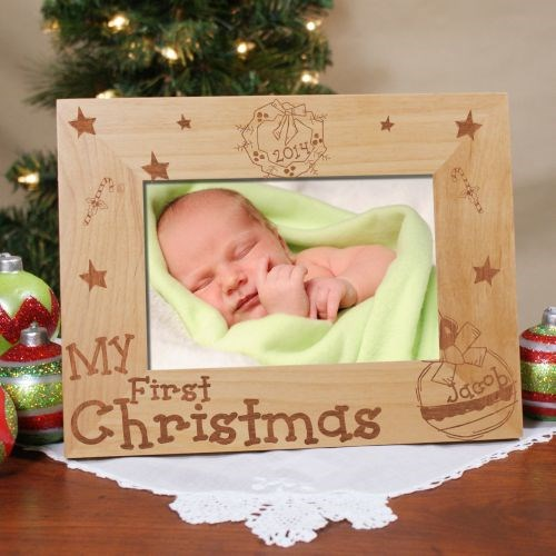 Personalized First Christmas Picture Frame