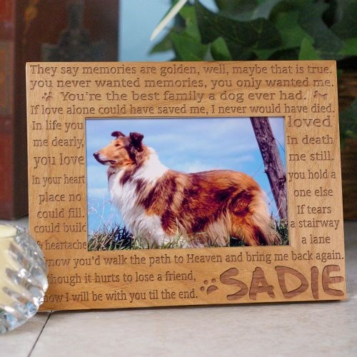 Engraved Til' the End Pet Memorial Wood Picture Frame 91298X