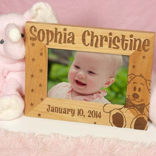 Personalized New Baby Wood Picture Frame