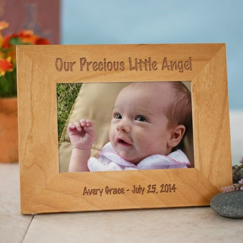 Personalized Little Angel Wood Picture Frame 930381