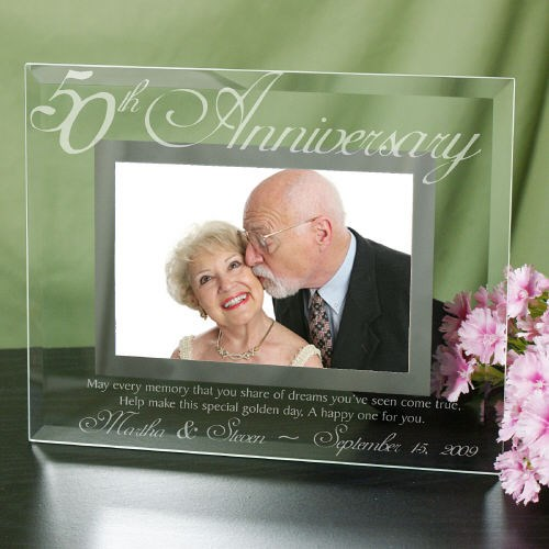 50th Anniversary Glass Picture Frame G929061-50