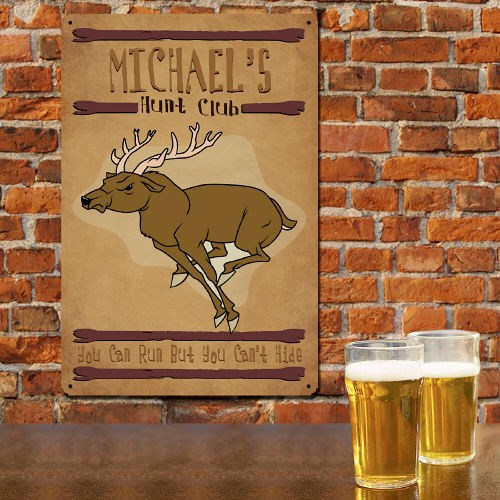 Personalized Hunt Club Metal Wall Signs