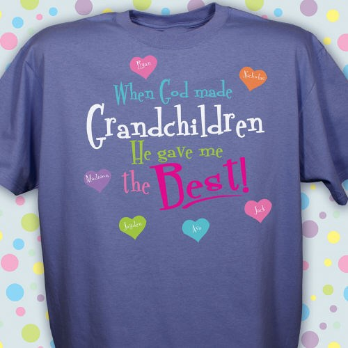 Custom Printed T-shirts for Grandma, Mom or Nana
