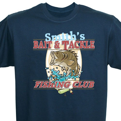 Personalized Fishing Club T-shirts