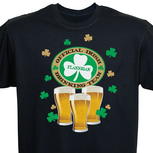 Personalized Irish Drinking Team Shirts