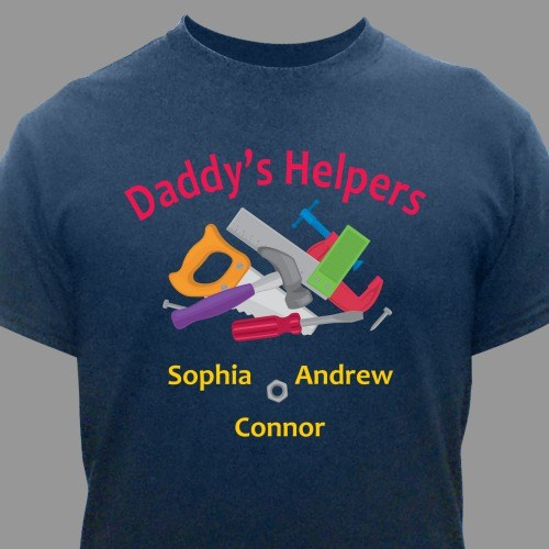 Personalized Helpers T-Shirt | Personalized Fathers Day Gift